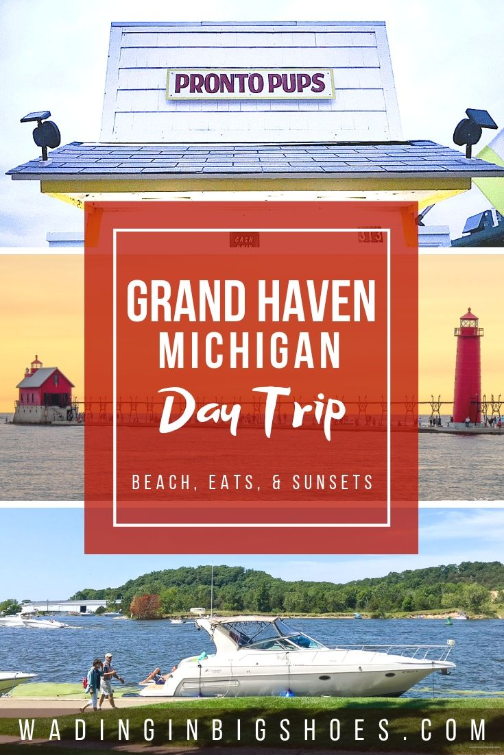 Wading in Big Shoes - Our 12-Hour Grand Haven Day Trip: Beaches, Eats, & Sunsets // We stopped by Grand Haven, Michigan on a whim and fit so much into just one day! See where we shopped, ate, relaxed, and got the best views here.