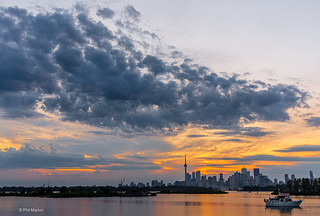 Sunset fishing with the city in the near distance - Lake Ontario, Toronto | by Phil Marion (184 million views - THANKS)