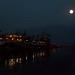 Moon above Dal Lake , Hashmir