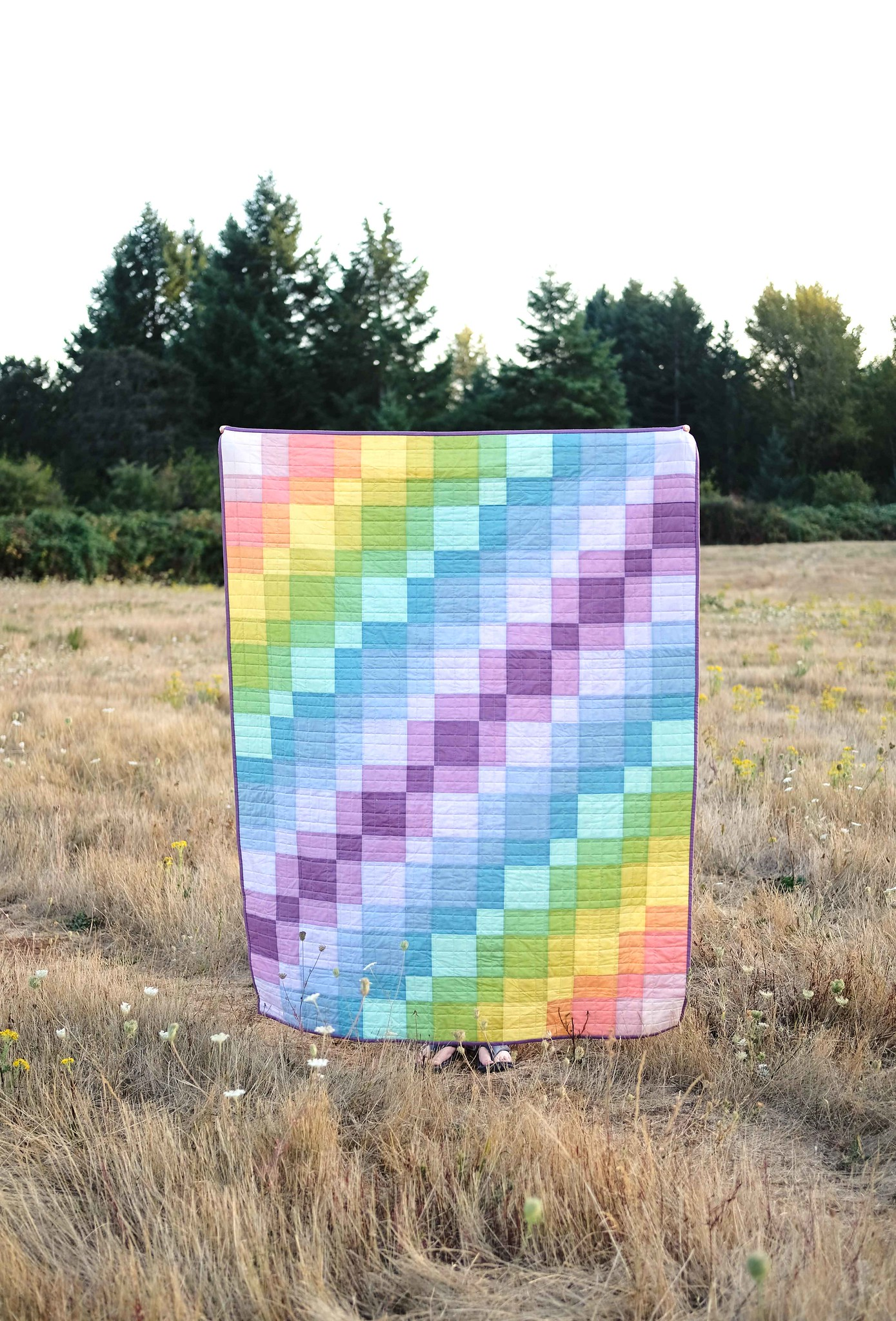 Watercolor Echelon Quilt - Kitchen Table Quilting
