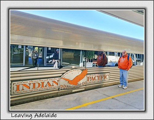 Leaving Adelaide on the Indian Pacific