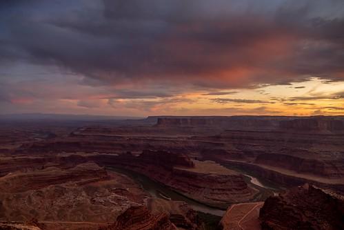 deadhorsepointstatepark nationalpark sunset sunrise sonnenuntergang sky clouds canyon canyonlands utah moab desert