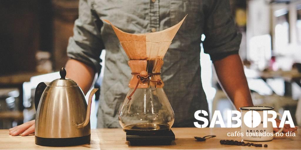 Café con las Cafeteras Chemex