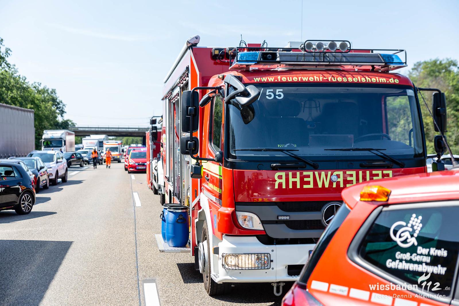 Unfallserie A60 Rüsselsheim / Ginsheim 22.08.19