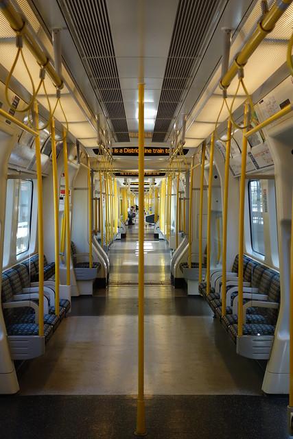 Interior of S Stock District Line Train