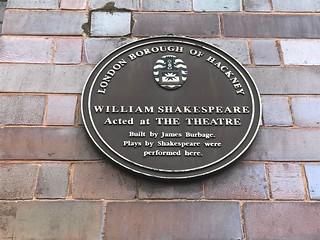 William Shakespeare Theatre plaque