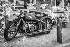 Vintage motorbike.