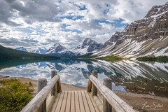 Footbridge Crossing - Bow Lake, Banff National Park, Alberta