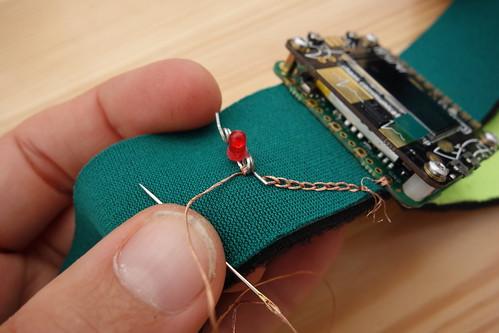 E-Textile Cardio LED extension