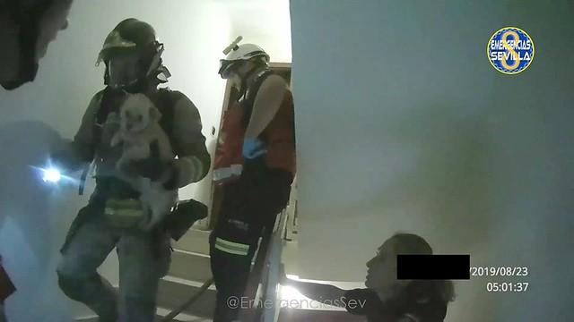 Actuación de los servicios de emergencias