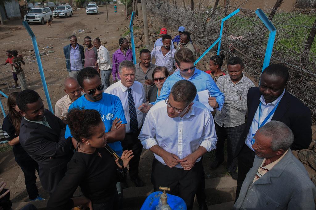 UK Secretary of State for International Development, Alok Sharma visiting ONE WASH PLUS Programme's Welenchiti Water Supply and Sanitation Scheme