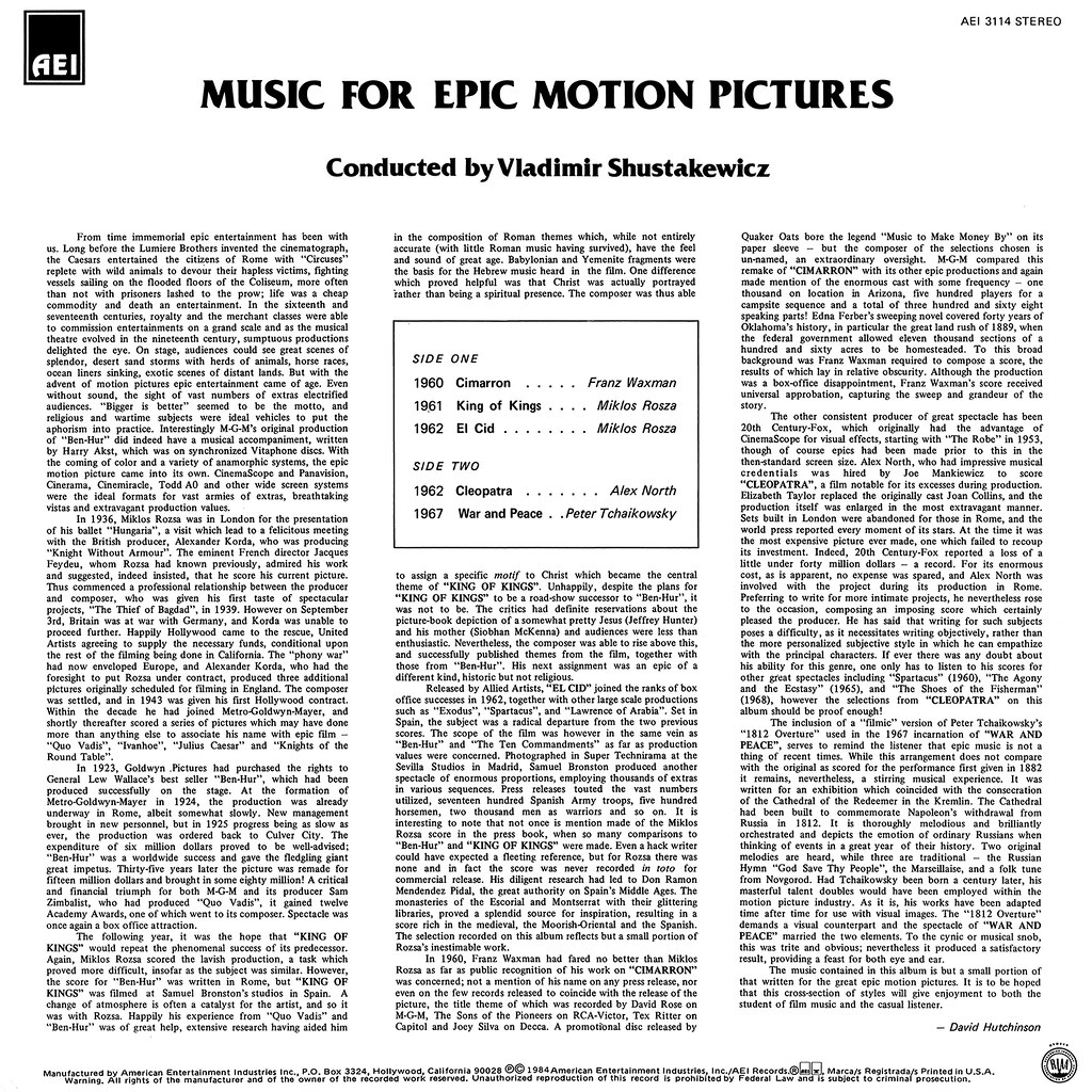 Vladimir Shustakewicz - Music for Epic Motion Pictures