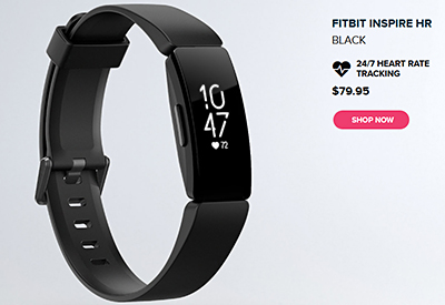 "The ""free"" Inspire Fitbit HR tracker for the 1 million Fitbit Premium service subscribers that Fitbit is targeting."