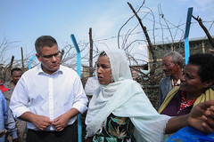 UK Secretary of State for International Development, Alok Sharma visiting ONE WASH PLUS Programme's Welenchiti Water Supply and Sanitation Scheme