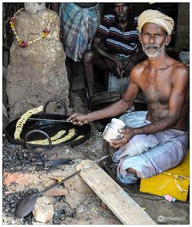 Indian Sweet Maker, Preparing 'karupatti mittai'