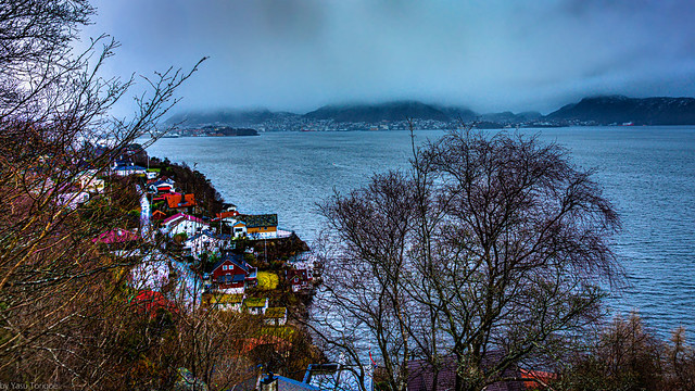Early morning view of Bergen city from a hilltop, Bergen, Norway- 3a