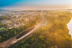 Morning light | Kaunas aerial