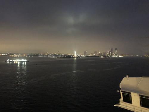 Statue of Liberty in the dark