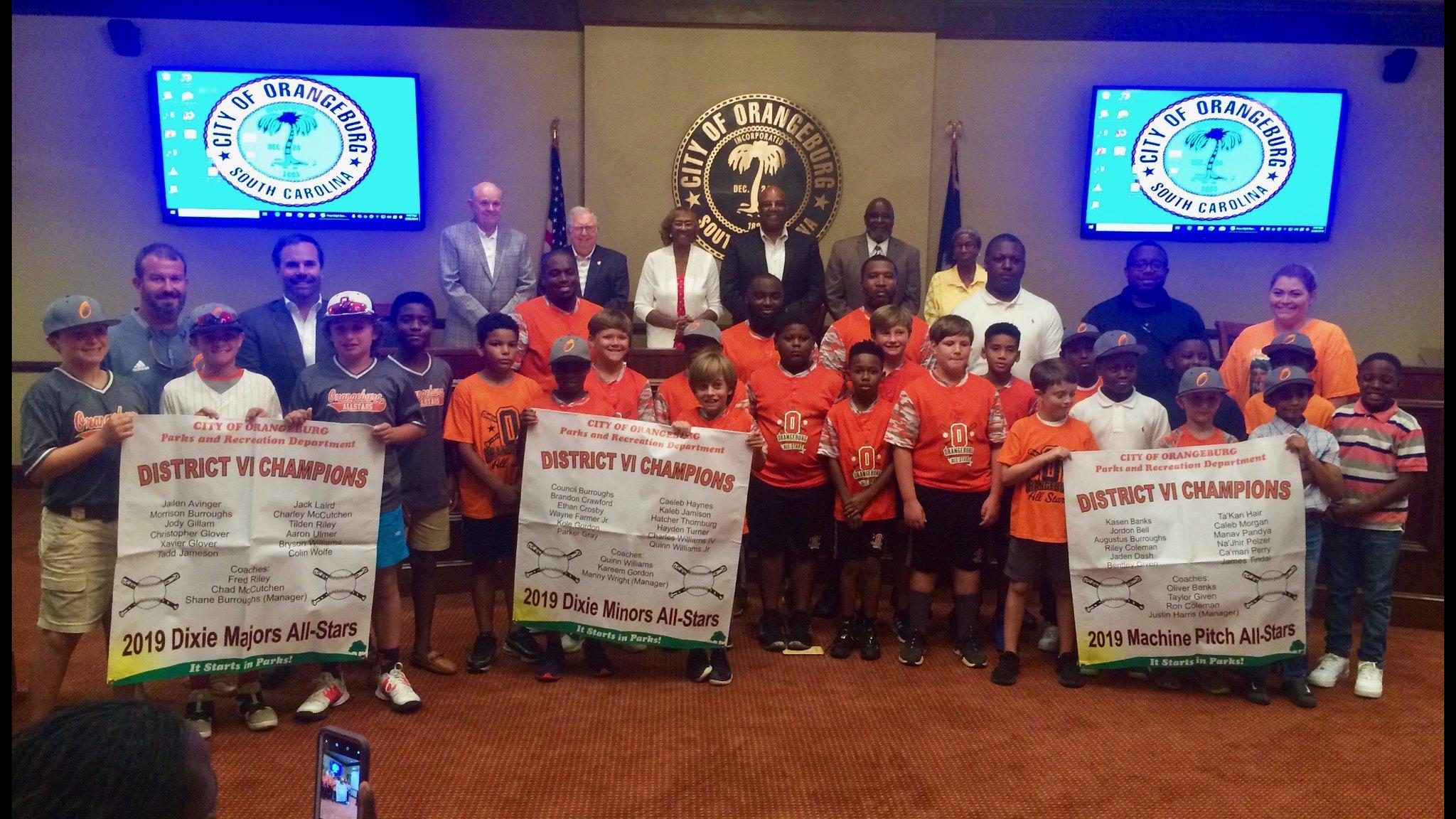 Orangeburg Parks and Recreation - Youth Baseball/Softball