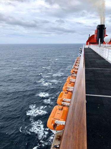 Lifeboats from the top deck