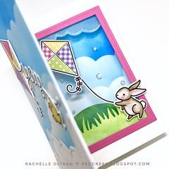 "Lawn Fawn ""Yay Kites"" inside pop-up card! Go fly a Kite!"
