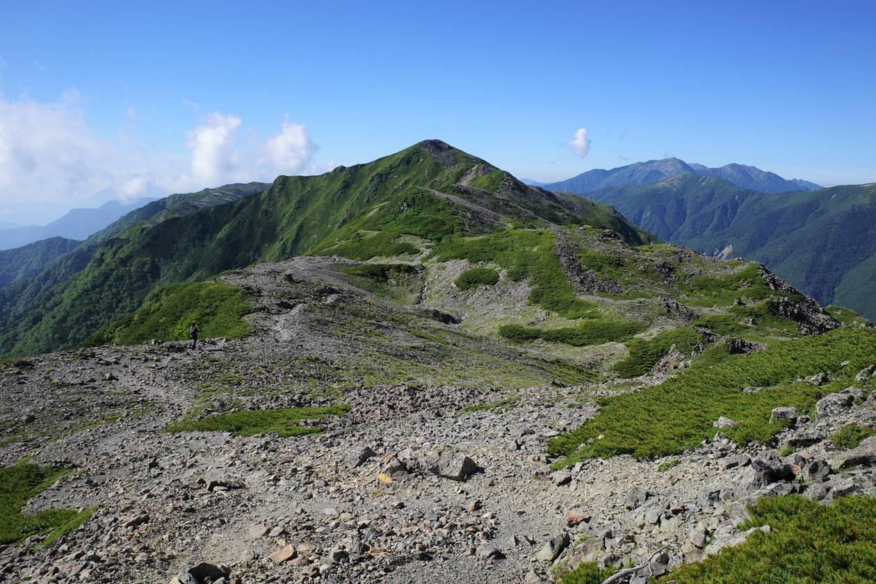 南アルプス・広河内岳 稜線登山