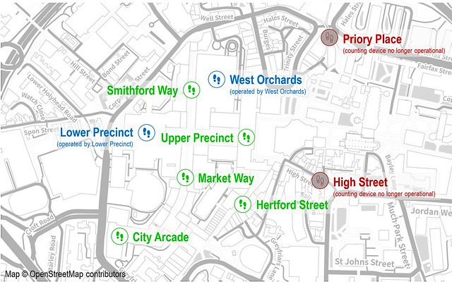One Coventry Plan Annual Performance Report 2018-19 14 Footfall camera locations