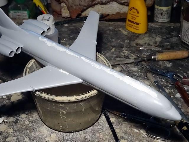 """1:144 Boeing 727-301; """"XA-DOK"""", operated by Aeroméxico (Aerovías de México, S.A. de C.V.); late Seventies (Whif/modified Minicraft kit) - WiP"""