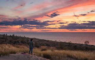 Sunset at Sleeping Bear Point