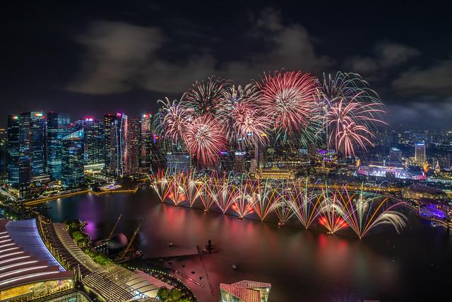 Fireworks Display of NDP 2019