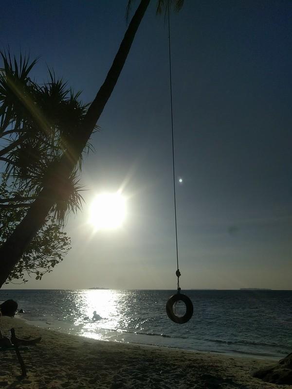 Playa de turismo en las islas de Karimunjawa