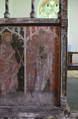 rood screen: St Andrew and St Peter (early 15th Century)