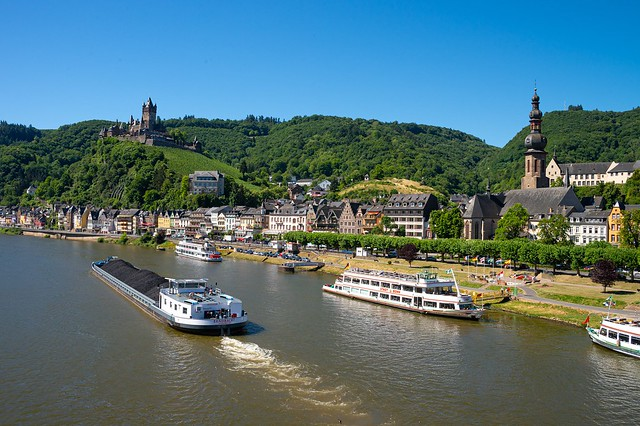 A sunny day in Cochem, Mosel, Germany
