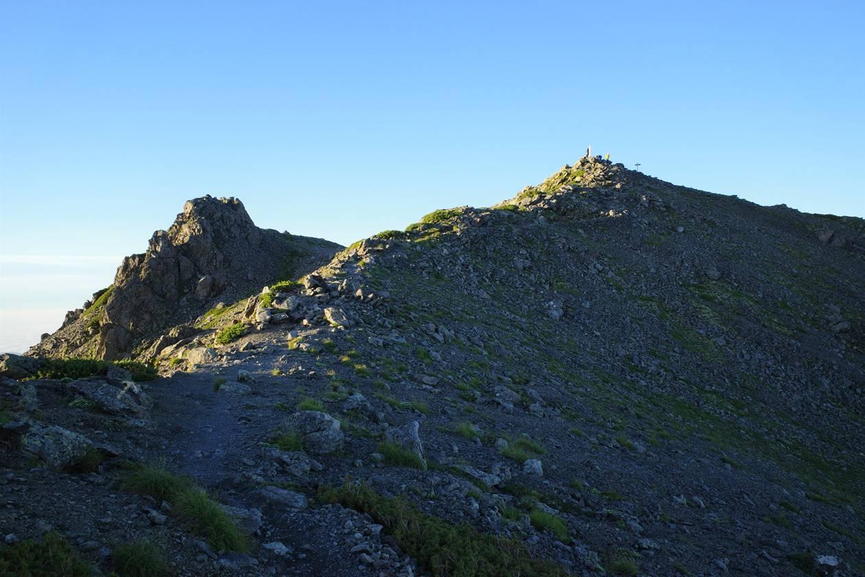 南アルプス・間ノ岳へ