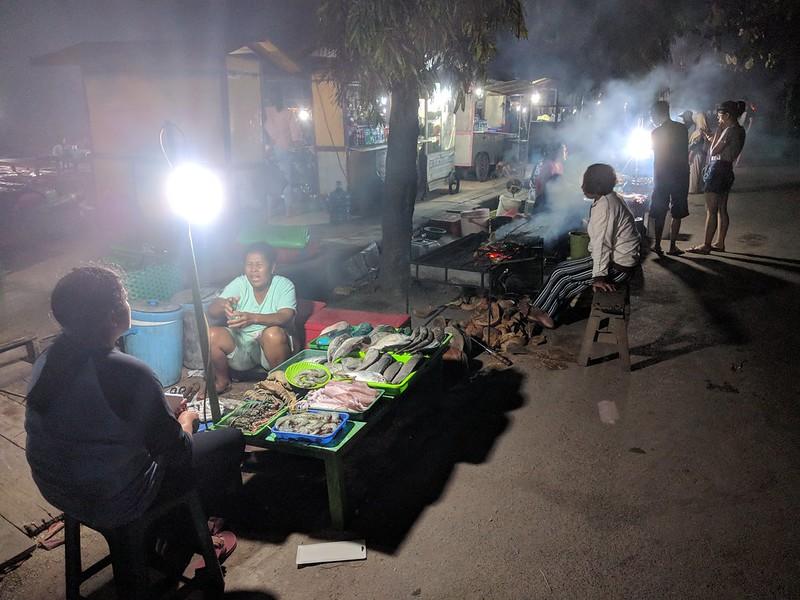 mercado de pescado de turismo en las islas de Karimunjawa