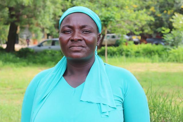 Gladys Toubalongno, one of the farmers working with Africa RISING in Goriyiri Community in Upper West Region, Northern Ghana. Photo credit: Wilhelmina Ofori-Duah-Duah/IITA.