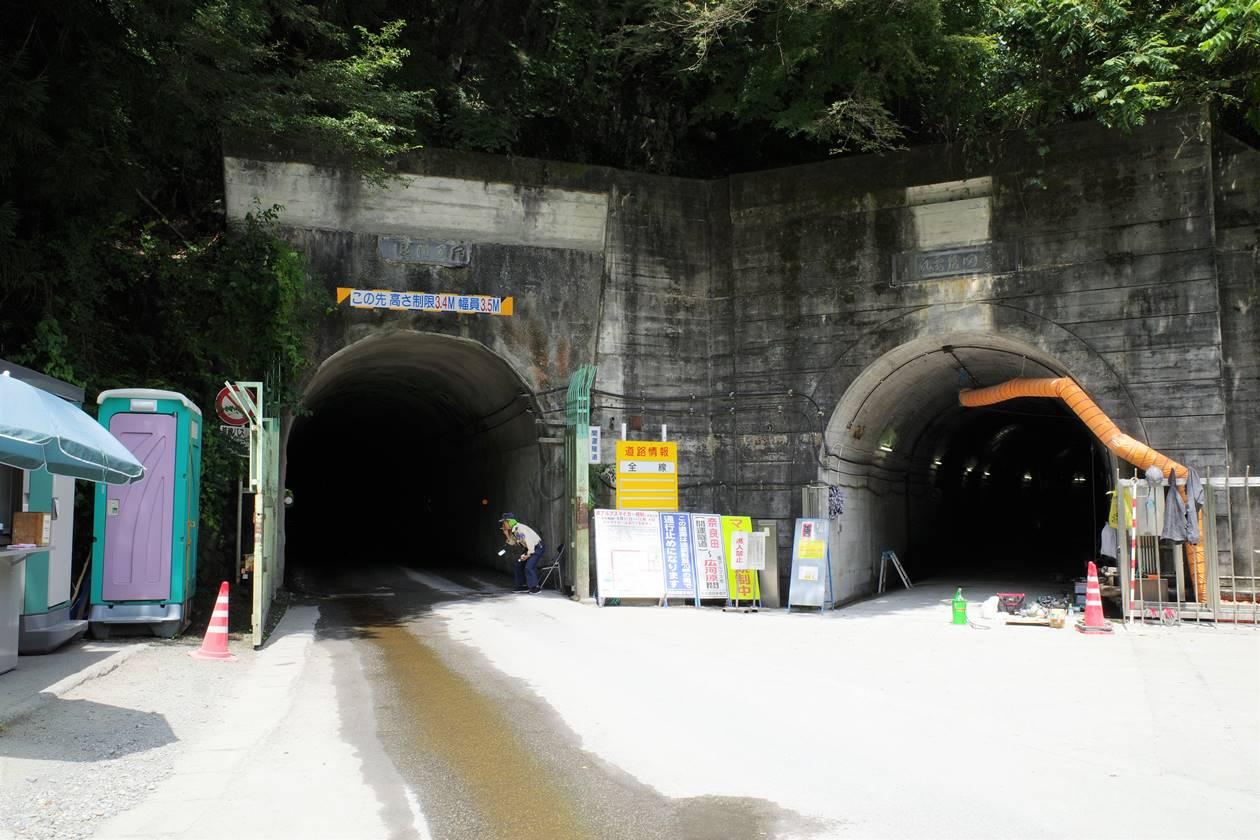 奈良田から広河原までのトンネル