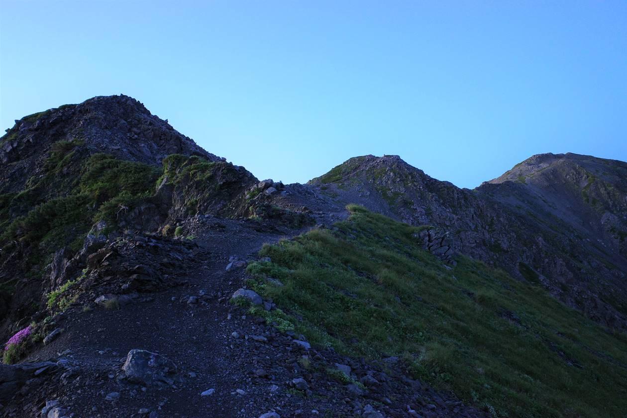 中白根山から間ノ岳へ