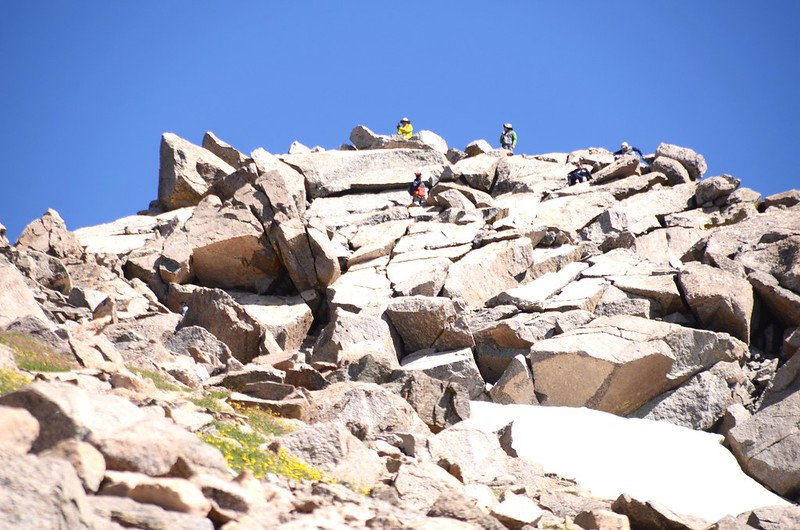The final summit pitch, climb up through the rocks to reach the top (1)