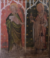 rood screen: St John and St James (early 15th Century)