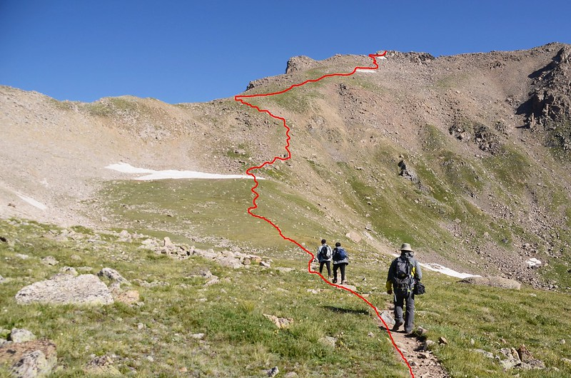Mount Harvard Trail (the steep slope below Mt. Harvard's south ridge) (6)_副本
