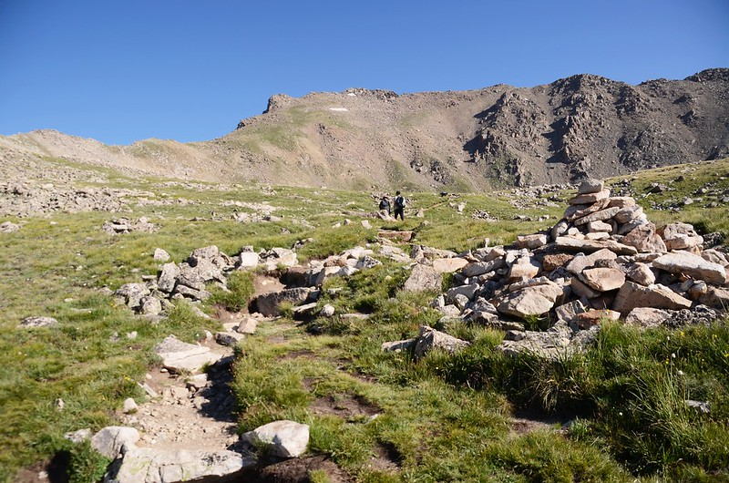 Mount Harvard from the shoulder on the east side of Unnamed Peak 13,598' (2)