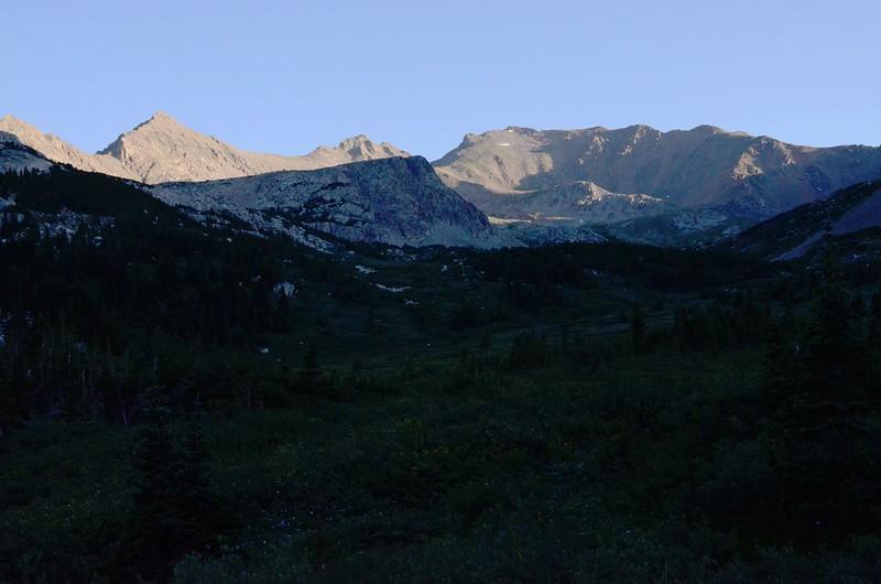 Morning light on Mount Harvard, taken from Horn Fork Basin (3)