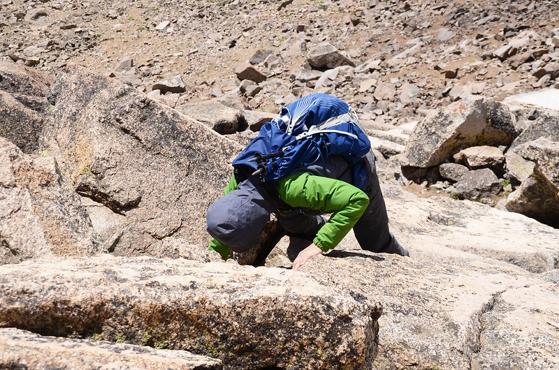 Climbing down from the summit of Mount Harvard (2)