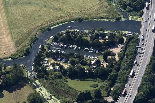 Huntingdon Boathaven & Caravan Park aerial