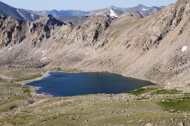 Bear Lake from the trail near 13,000'