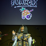 Thu, 22/08/2019 - 8:12pm - Tank & the Bangas on FUV Live for an audience of Marquee Members in the lobby performance space at Universal Music in New York City. Hosted by Rita Houston. Photo by Gus Philippas