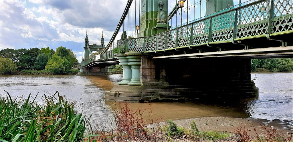 Hammersmith Bridge. West London. England. UK