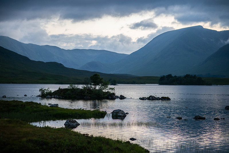 Black Mount and Loch Tulla, close to Glencoe
