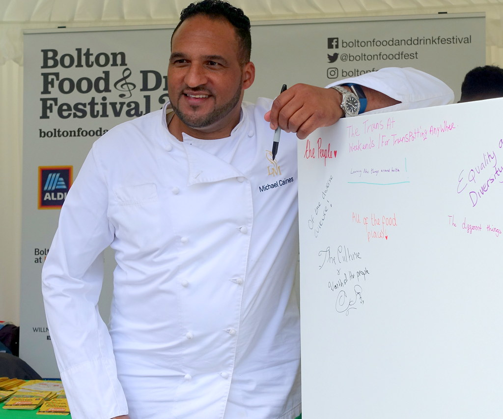 Chef Michael Caines at Bolton Food Festival 2019